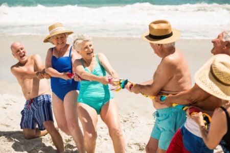 beach ball games for seniors