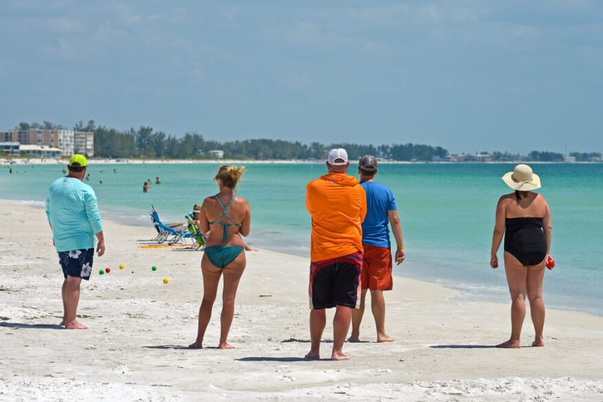 bocce ball on beach