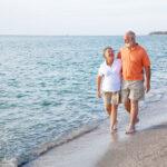 senior couple living at the beach