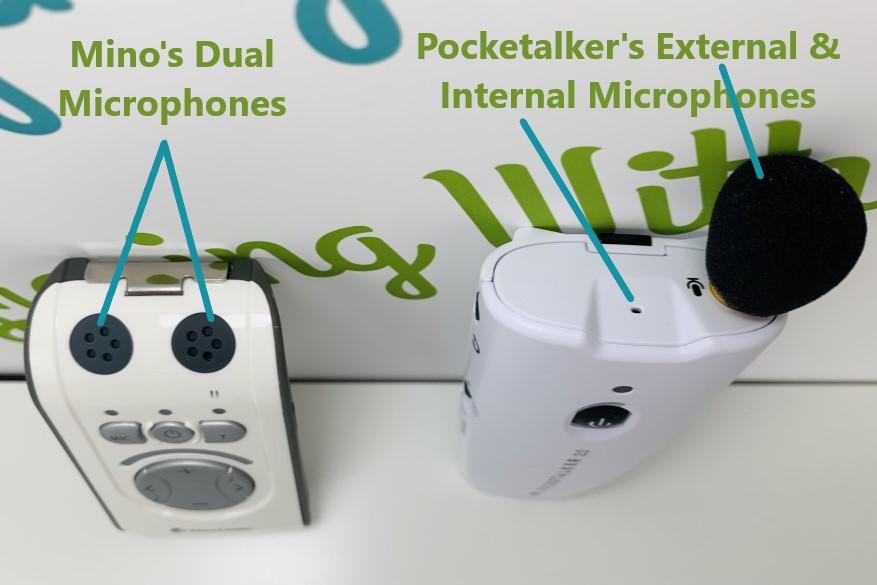 Mino and Pocketalker microphone comparison