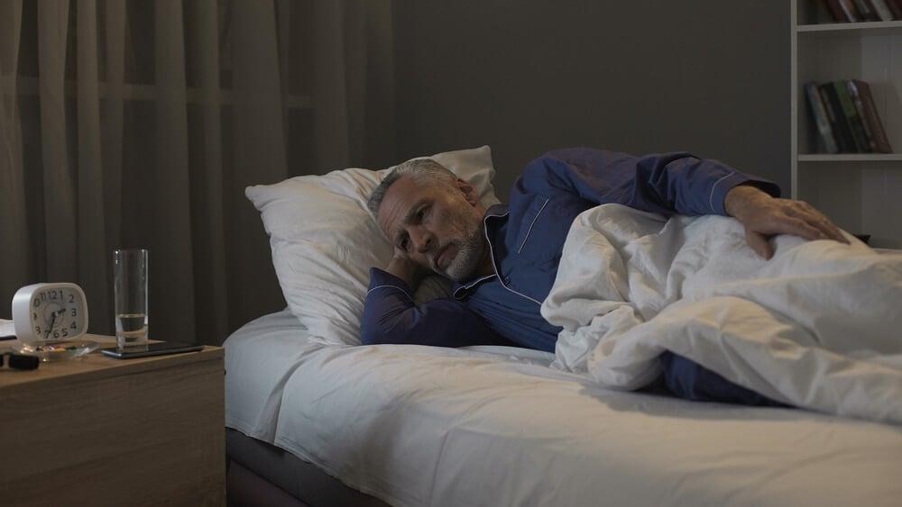 senior with insomnia