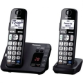 Panasonic KX-TGE232B Cordless Phone with 2 Handsets